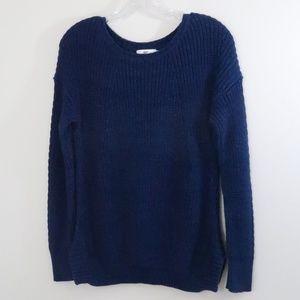Vineyard Vines Ribbed Sweater Perforated Detail XS